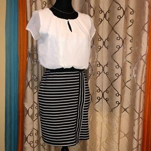 🌟 GUC black and white professional career dress